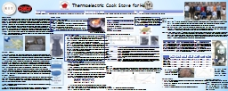 Thermoelectric Cook Stove
