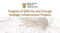 Progress of Skills for and through Strategic Infrastructure
