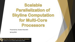 Scalable Parallelization of Skyline Computation for Multi-C