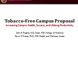 Tobacco-Free Campus Proposal
