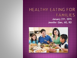 Healthy Eating for Families PowerPoint PPT Presentation
