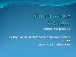 SOUTH AFRICA PowerPoint PPT Presentation