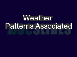 Weather Patterns Associated