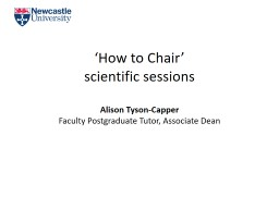 'How to Chair' PowerPoint PPT Presentation