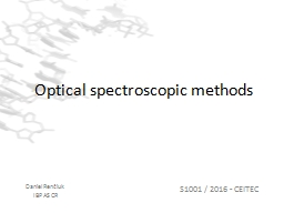 Optical spectroscopic methods PowerPoint PPT Presentation