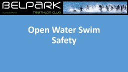 Open Water Swim Safety