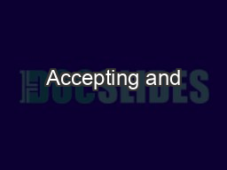 Accepting and