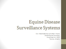 Equine Disease Surveillance Systems