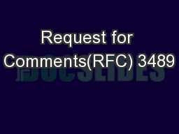 Request for Comments(RFC) 3489