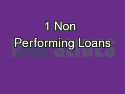 1 Non Performing Loans