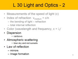 1 L 30 Light and Optics - 2