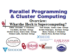 Parallel Programming & Cluster Computing