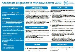 Accelerate Migration to Windows Server 2012