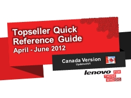 Topseller Quick Reference Guide