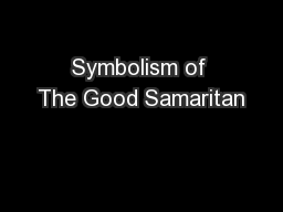 Symbolism of The Good Samaritan