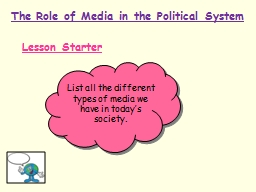 The Role of Media in the Political System