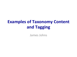 Examples of Taxonomy