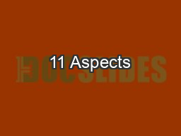 11 Aspects PowerPoint PPT Presentation