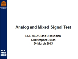 Analog and Mixed Signal Test PowerPoint PPT Presentation