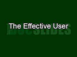 The Effective User