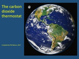 The carbon dioxide thermostat