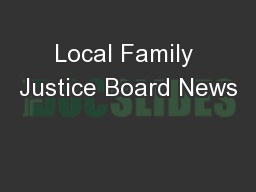 Local Family Justice Board News