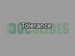 Tolerance & Acceptance of Race, Religion and Sexual Ori