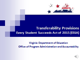 Transferability Provisions PowerPoint PPT Presentation