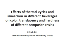 Effects of thermal cycles and immersion in different bevera