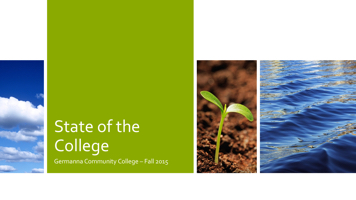 State of the College PowerPoint PPT Presentation
