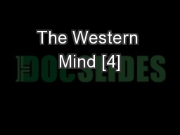 The Western Mind [4]