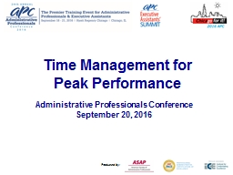 Time Management for