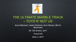 The ultimate marble track – Toys R' not US