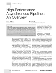 HighPerformance Asynchronous Pipelines An Overview Ste