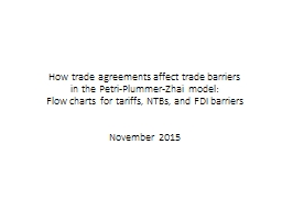 How trade agreements affect trade barriers