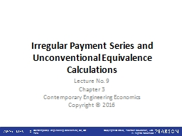 Irregular Payment Series and Unconventional