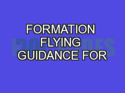 FORMATION FLYING GUIDANCE FOR