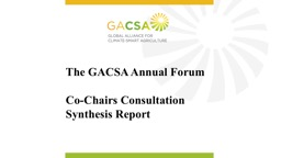 The GACSA Annual Forum