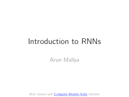 Introduction to RNNs