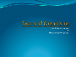 Types of Organisms PowerPoint PPT Presentation