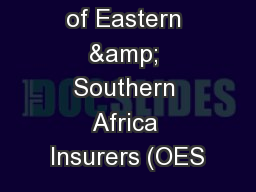 Organisation of Eastern & Southern Africa Insurers (OES