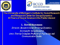 The University of Michigan's Institute for Social Research