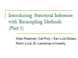 Introducing Statistical Inference with Resampling Methods