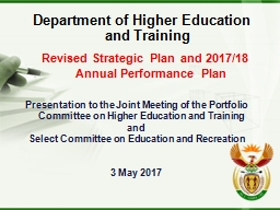 Department of Higher Education and Training PowerPoint PPT Presentation