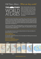 Old Times Atlases  What are they worth As a general ru