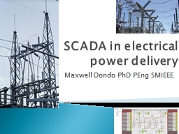 SCADA in electrical power delivery