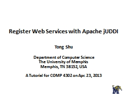 Register Web Services with Apache