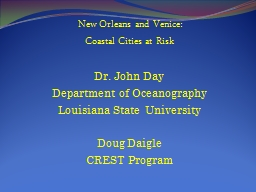New Orleans and Venice: PowerPoint PPT Presentation