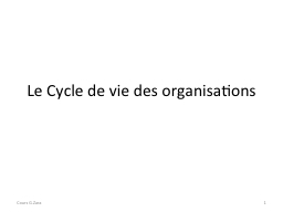 Le Cycle de vie des organisations PowerPoint PPT Presentation