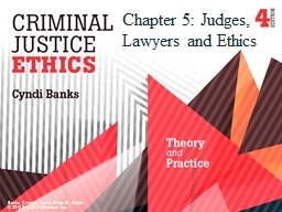 Chapter 5: Judges, Lawyers and Ethics